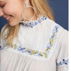 Anthro Banjanan Haustwirt Embroidered Top Size XS